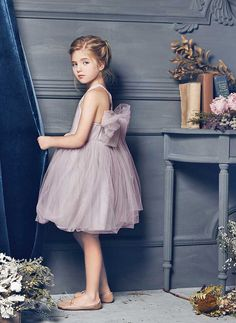 Nellystella LOVE Peach Dress in Lavender Fog – The Girls @ Los Altos