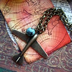 Airplane Necklace: Renee Loughlin on Etsy
