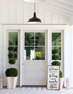 70 Best Modern Farmhouse Front Door Entrance Design Ideas 19 – Home Design Front Door Entrance, Entrance Decor, Entrance Design, Front Entry, Entry Doors, House Entrance, Entrance Lighting, Front Stoop, Garage Doors