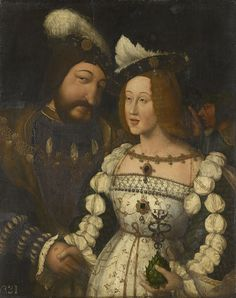 François I of France with his bride Eleanor of Austria, c. 1530s-40s