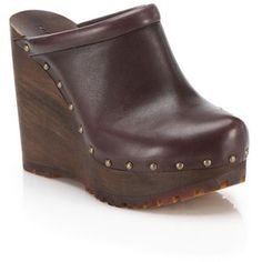 See by Chloé Clive Faux-Leather Platform Wedge Clogs