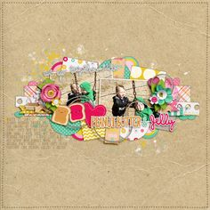 We Go Together................. - Scrapbook.com CREDITS  You and Me Baby 2 by Lauren Grier & Shawna Clingerman (TLP).  Leaf from Sunshine in my Soul by Zoe Pearn (SSD).  Font: DJB Coffee Shop Tall Skinny Extended.
