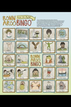 hahaha gotta bring this next year - Bonnaroo Bingo