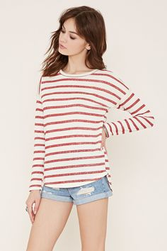 Stripe French Terry Top
