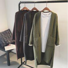 New Woman Cashmere Cardigan Coat 2017 Mùa Xuân Mùa Thu Rắn Đường Viền Cổ Áo Mở Dài Coats Quần Áo Dệt Kim Chiếc Áo Len Áo Len W885