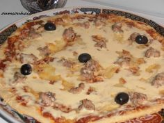 pizza-boisee-esca-2 Pizza Kebab, Hawaiian Pizza, Pain Pizza, Quiches, Cake, Pizza, African Food Recipes, Pastries, Kuchen