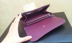 Louis Vuitton Vivienne LV Long Wallet M58177 purple. inner shoot. $159+FREE shipping+on-line payment