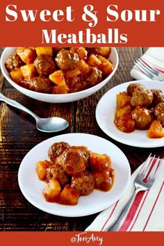 Classic easy recipe for sweet and sour meatballs with pineapple. Perfect appetiz… Classic easy recipe for sweet and sour meatballs with pineapple. Perfect appetizer or entree for Jewish holidays including Passover, Rosh Hashanah, or Hanukkah. Kosher Recipes, Meat Recipes, Appetizer Recipes, Cooking Recipes, Passover Recipes, Jewish Recipes, Passover Meal, Matzo Meal, Sweet And Sour Meatballs