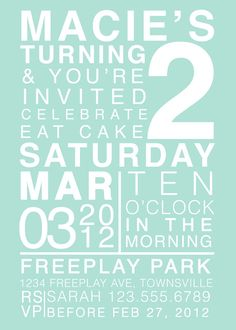 Subway Style Birthday Invitation Digital File  Boy by erindezago, $12.00