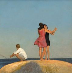 Bo Bartlett, Study for Light Years. Although the scenes are set around his childhood home in Georgia, his island summer home in Maine, his home in Pennsylvania or the surroundings of his studio and residence in Washington state, they represent a deeper, mythical concept of the archetypal, universal home.