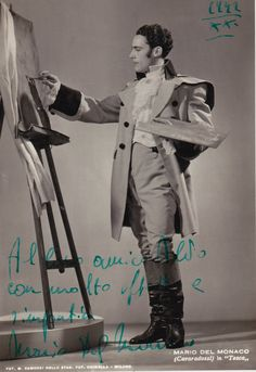 Mario Del Monaco as Cavaradossi in Tosca, 1942 Opera Singers, Classical Music, Musicals, The Past, Legends, Crop Circles, Fictional Characters, Diva, Boards