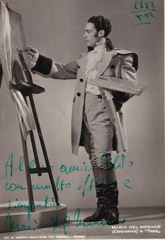 Mario Del Monaco as Cavaradossi in Tosca, 1942 Opera Singers, Classical Music, Theatre, Musicals, The Past, Retro, Legends, Crop Circles, Fictional Characters