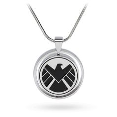 This pendant lets you be a sleeper agent for HYDRA while also being one of the agents of S.H.I.E.L.D. See, this pendant spins, allowing you to decide which side you want - one side features S.H.I.E.L.D.'s logo & the other side features HYDRA's logo.