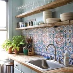Beautiful Bohemian Kitchen Decor for Cozy Kitchen Inspirations 05 – GooDSGN Bohemian Interior Design, Interior Design Kitchen, Luxury Interior, Interior Photo, Contemporary Interior, Küchen Design, House Design, Design Ideas, Design Inspiration