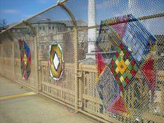 amazing yarn bombing, yarnstorming, guerrilla knitting, urban knitting or graffiti knitting or whatever you call this brilliant type of street art