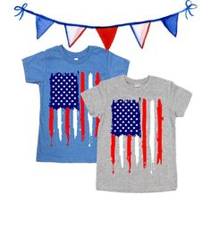 9a4219d39 American Flag Shirt - Grunge Flag - Fourth of July Shirts - Independence Day  Tees - Unisex Kids Shir