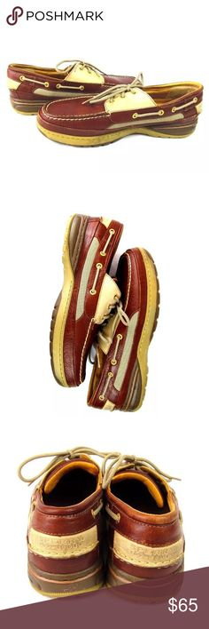 Sperry Topsider Boat Shoes Billfish Gold Cup 11.5 Size:  11.5 Condition: Very good The Gold Cup Collection has reached new heights. Our original design, engineered with meticulous craftsmanship, has been combined with our revolutionary ASV Solution which serves to dampen shock and vibration.  Genuine all leather upper allows for years of wear Adjustable 360° lacing system Premium LEather Linings Provide Plush, Ultrasoft Comfort Full Length, Triple Density Footbed Removable Insole Sculpted…
