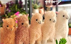 "9"" Llama Animal Alpaca Alpacasso Japan Stuffed Short Plush Cushion Doll 5 Colors | eBay"