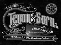 CBC Radio 3 Podcast Lettering by Ben Didier in 50 Examples of Creative Typography for August 2013