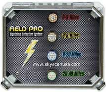 SkyScan Field Pro permanent mounted lightning detector.
