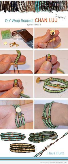 Tutorial pulsera DIY con cuentas y cuerdas, aprende paso a paso