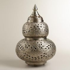 One of my favorite discoveries at WorldMarket.com: Extra-Large Moroccan Punched Metal Lamp