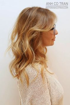 NYC: YOU DON'T NEED GLASSES TO SEE THIS BEAUTIFUL CUT! Cut/Style: Anh Co Tran. Appointment inquiries please call Ramirez|Tran Salon in Beverly Hills: 310.724.8167