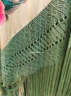 Spanish Costume, Silk Shawl, Knots, Weaving, Crochet, Handmade, Dreams, Diy, Flamenco Dresses