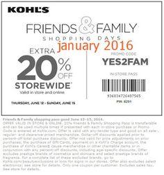 Free Printable Coupons: Kohls Coupons