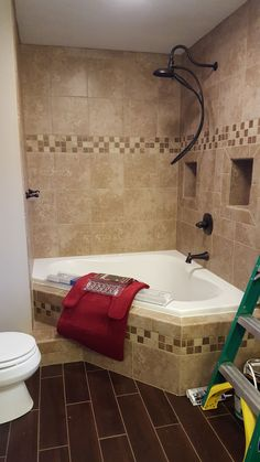 5 Competent Clever Tips: Small Shower Remodeling Marble bathroom shower remodeling before and after.Tub To Shower Remodel Bathtub Surround. Corner Tub Shower Combo, Bathtub Shower Combo, Diy Bathtub, Master Shower, Master Bathroom, Bathtub Cleaner, Attic Bathroom, Bath Shower, Small Shower Remodel
