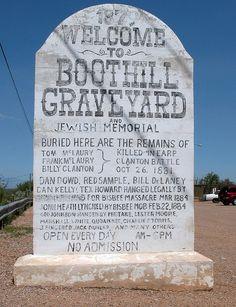 Boothill Graveyard, Tombstone AZ