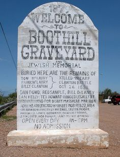 Boothill Graveyard..... Tombstone Arizona
