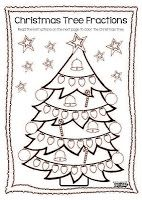 Worksheets Christmas Fractions christmas and winter themed math centers activities common worksheets fractions multiplication