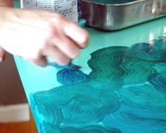 Project Inspiration: DIY Faux Malachite Surface