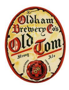 Old beer label Oldham Old Tom