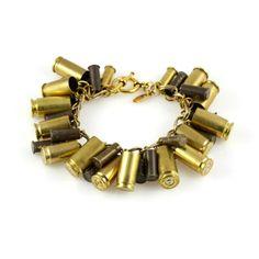The Bullet Bracelet  Brass...