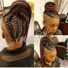 23 Pretty Small Box Braids Hairstyles to Try – Healthick Braided Hairstyles For Black Women Cornrows, Shaved Side Hairstyles, Weave Ponytail Hairstyles, Mohawk Hairstyles, Haircuts, Locs, Braids With Shaved Sides, Natural Hair Styles, Short Hair Styles