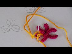 Hand Embroidery: Brazilian Embroidery/ Cast on Stitch/Buti Embroidery Brazilian Embroidery Stitches, Embroidery Thread, Embroidery Patterns, Casting On Stitches, Small Flowers, Crochet Necklace, It Cast, Make It Yourself, Pictures