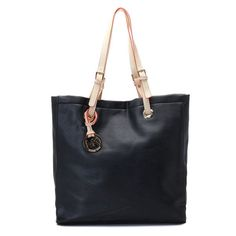 MICHAEL Michael Kors Jet Set Leather Tote Black Leather