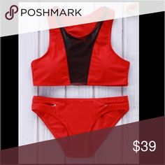 NWT red & black mesh bikini ✨Price is FIRM unless bundled ✨ Not from listed brand, comes from vendor ✨ No trades  ✨ Fast shipper (same or next day) ✈ ✨ Brand new  ✨ Sizes available: Small (could fit as an XS, very petite suit)  ✨Fabric: Polyester  ✨Wire free, padded  ✨ Comes with top & bottom                                               Bust: 31.50~33.07 inches  Waist: 25.20~26.77 inches  Hips: 33.86~35.43 inches Minimale Animale Swim Bikinis