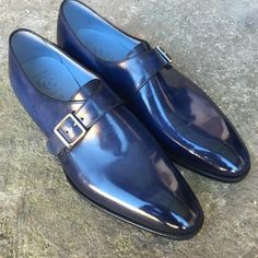 Gaziano & Girling - Bespoke & Benchmade Footwear: Similar blue but not quite the same, this Carnegie...
