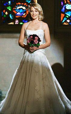 "Izzie Stevens (Katherine Heigl) wearing Kenneth Pool (""Lana"" gown) on the TV show, 'Grey's Anatomy'"