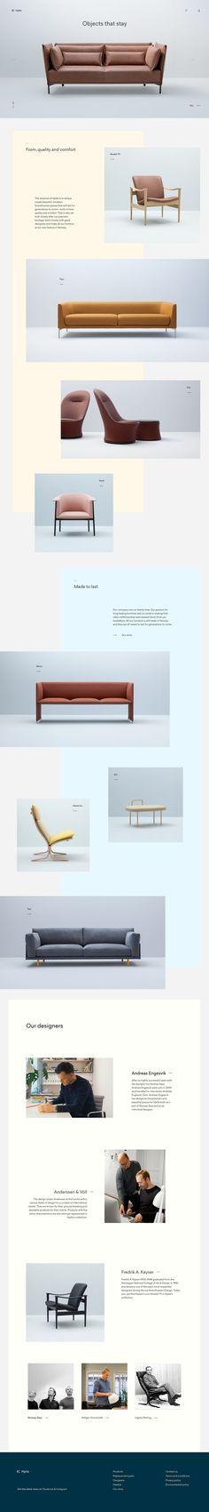 Hjelle Furniture - Homepage   #ui #ux #userexperience #website #webdesign #design #minimal #minimalism #art #white #orange #blue #travel #map #ecommerce #fashion
