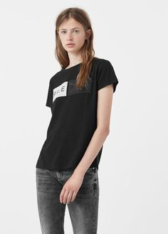 Nyomott mintás, csillogó póló