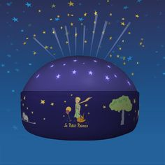 Night light that projects stars, lovely book charakter 'le petit prince', lighting by Niermann Standby. Led Night Light, Light Up, Solar, The Little Prince, Color Azul, Led Lamp, Montage, Colors, Il Piccolo Principe