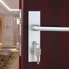 ... From China Lock Lever Handle Suppliers: Space Aluminum Alloy Solid  Interior Door Lock Hard Wood Bedroom Simple Room Door Lock Mute Lockcore  Handle Locks