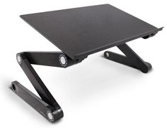 Lavolta Ergonomic Adjustable Laptop Table Aluminium Notebook Desk Portable Stand Tray with CPU Cooling Pad - Black Portable Laptop Table, Laptop Tray, Dj Table, Table Desk, Desk Chairs, Adjustable Laptop Table, Laptop Cooler, Laptop Cooling Pad, Desk Tray