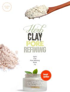 [Elishacoy] Herb Clay Pore Refining Mask     A mask containing white clay that removes sebum with excellent sebum absorption power  and controls oils.  The mask also contains the moroheiya leaf, a natural herb, which clarifies skin and  acts as a skin treatment agent.     Brand : Elishacoy  Volume : 70g  All Skin Types  Made in Korea  #wishtrend #elishacoy #herbclayporerefiningmask