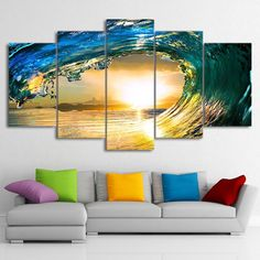 Eye of Waves 5 Pieces Canvas