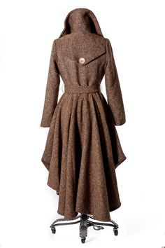 Glam Slam High/Low Tweed Wool Coat | Tailor and Stylist | Spirit